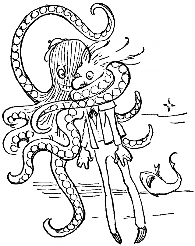 shark tale coloring book pages-#22
