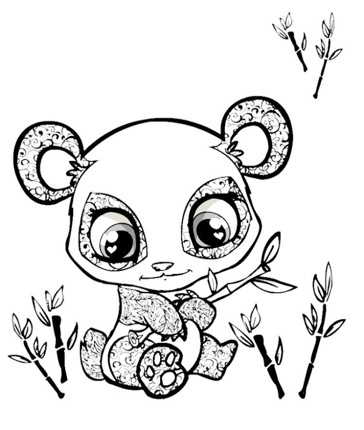 Coloring Pages Of Animals With Big Eyes : Cute animals with big eyes coloring pages