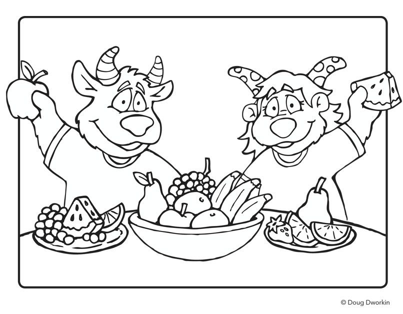 healthy coloring pages - photo#28