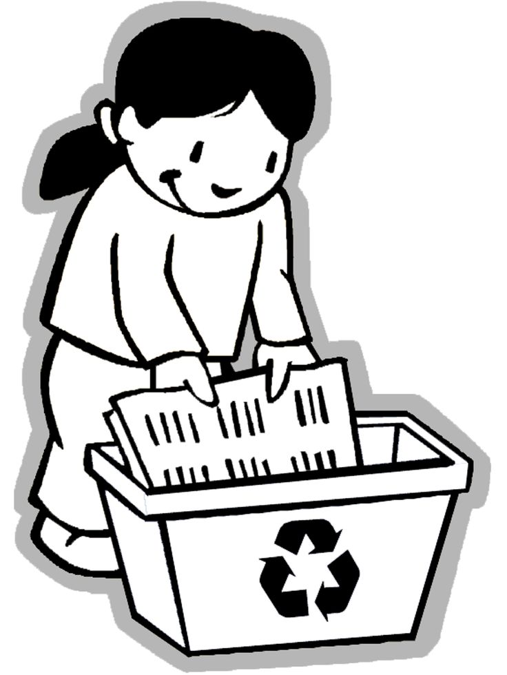 Printable Recycle Symbol - Coloring Home