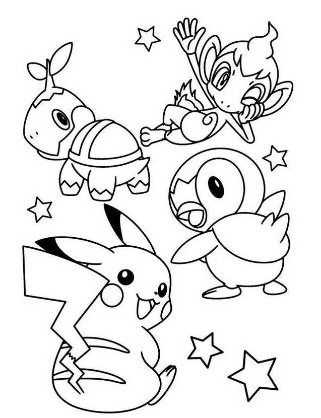 piplup cute coloring pages | Piplup Pokemon Coloring Pages - Coloring Home