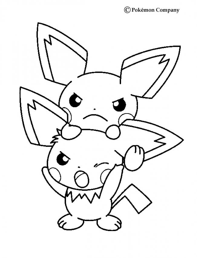 Electric Pokemon Coloring Pages Pichu