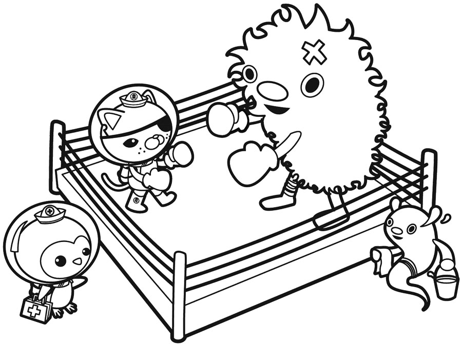 baby boxers coloring pages - photo #26