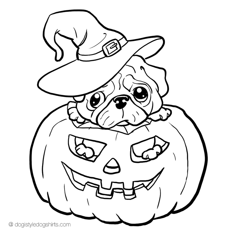 pug coloring pages - photo#5