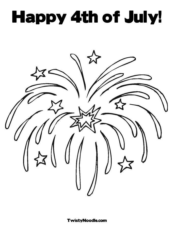 Fourth July Coloring Pages Kids Home
