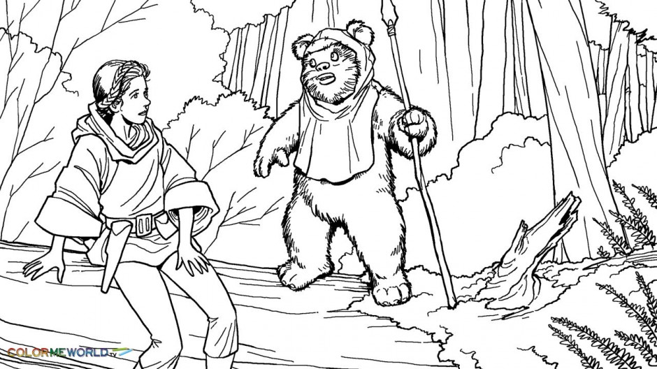 Han solo coloring pages az coloring pages for Princess leia coloring page