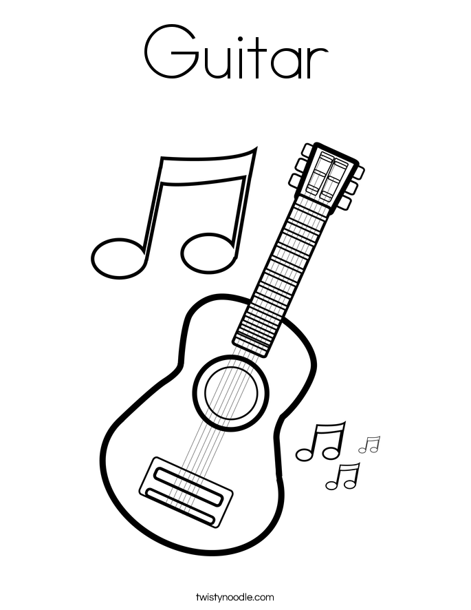 Guitar Coloring Page music | Coloring Pages