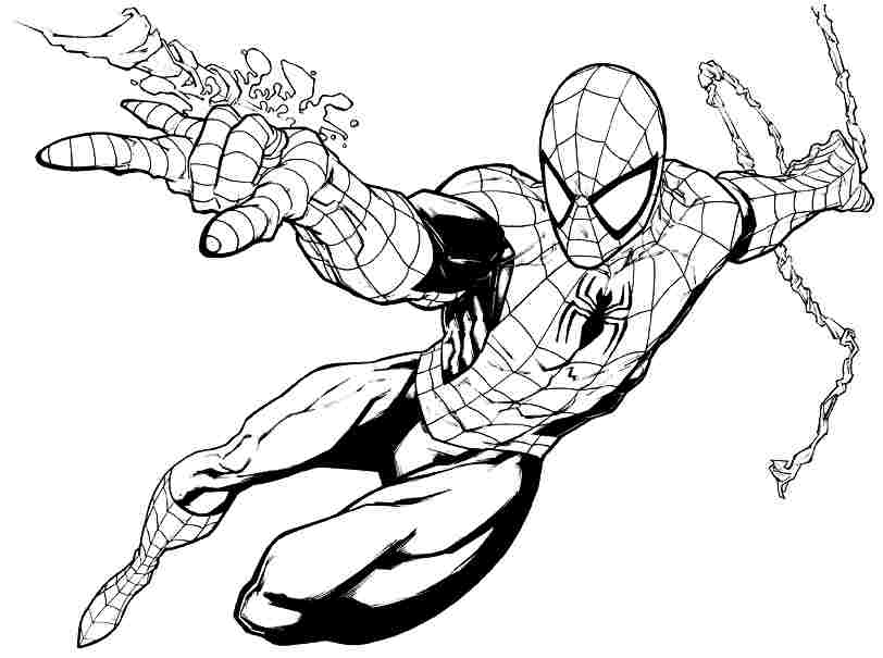 Spiderman Drawings For Kids Coloring Home