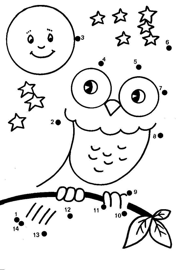 Dot To Dot Preschool AZ Coloring