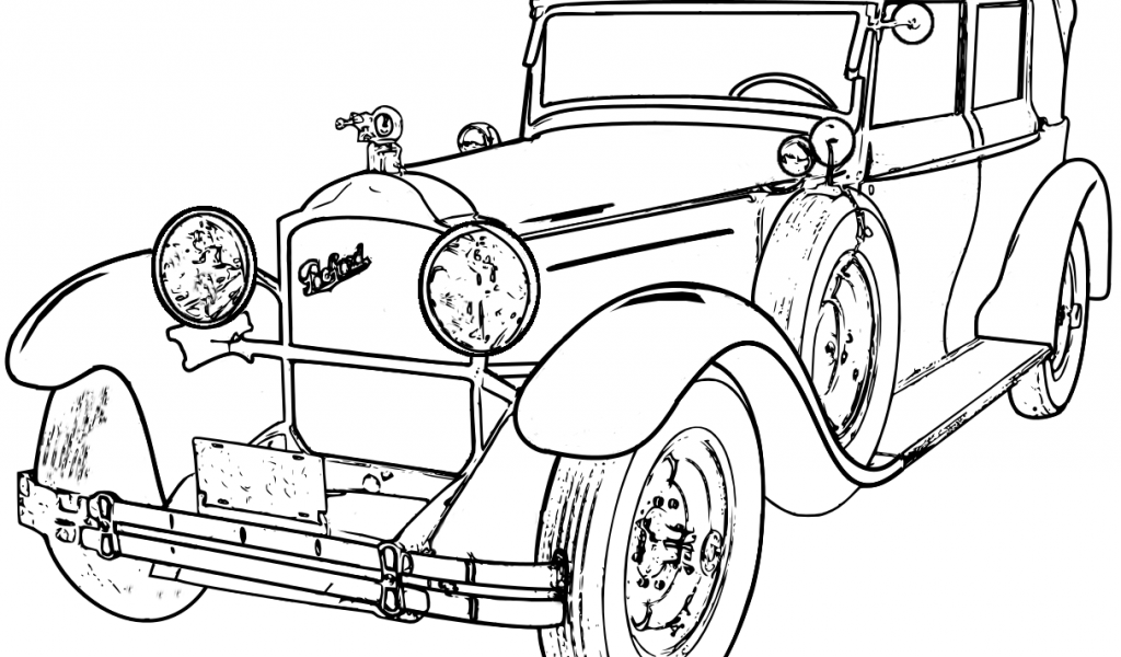 Antique Car Coloring Pages : Antique car coloring pages home