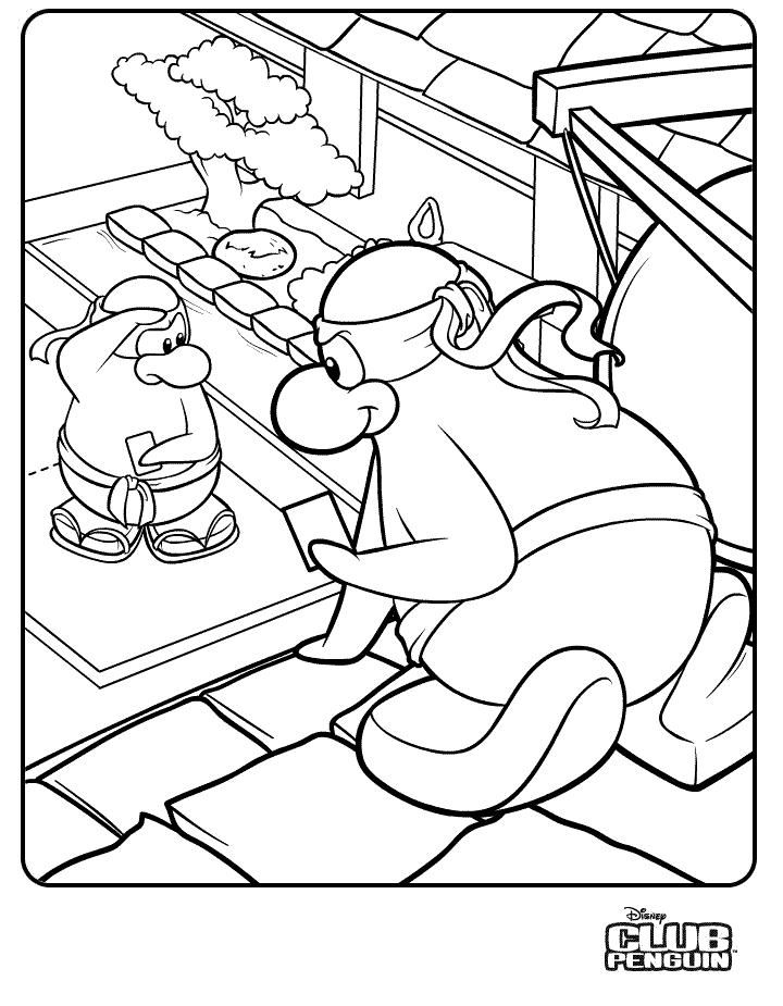 s3 2 1 penguins Colouring Pages
