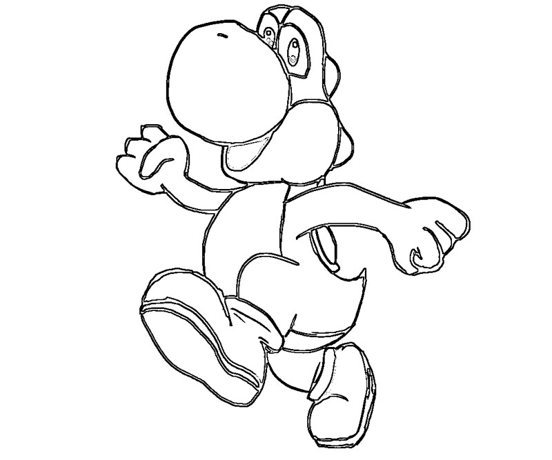 baby yoshi coloring pages - photo#15
