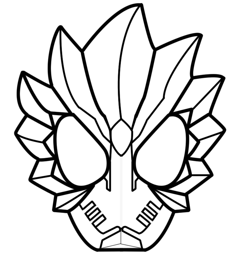kamen rider coloring pages - photo#8