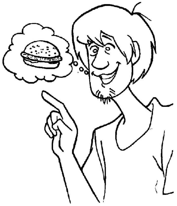 Picture Of Shaggy From Scooby Doo Az Coloring Pages Shaggy Coloring Page
