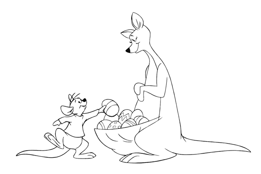 baby kangaroo coloring pages - photo#35