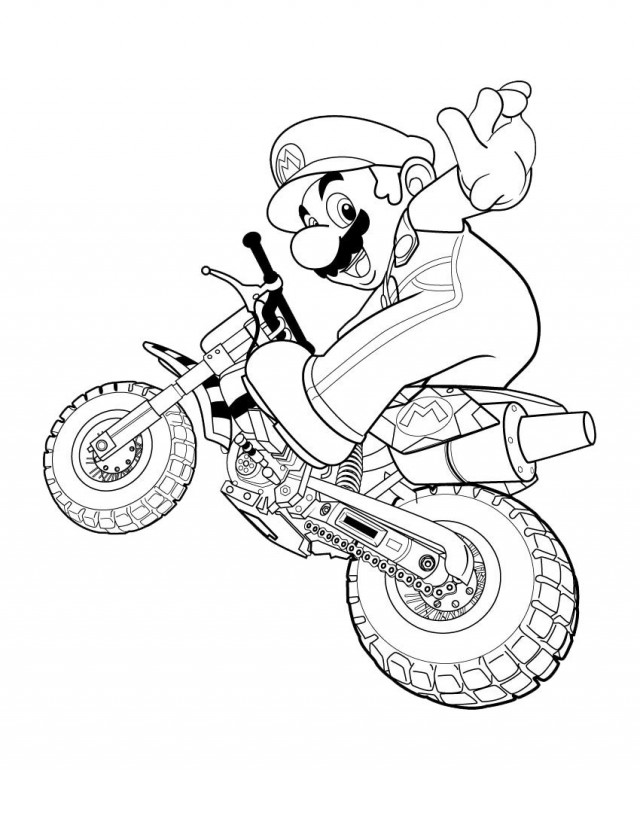 nintendo coloring pages free - photo #38