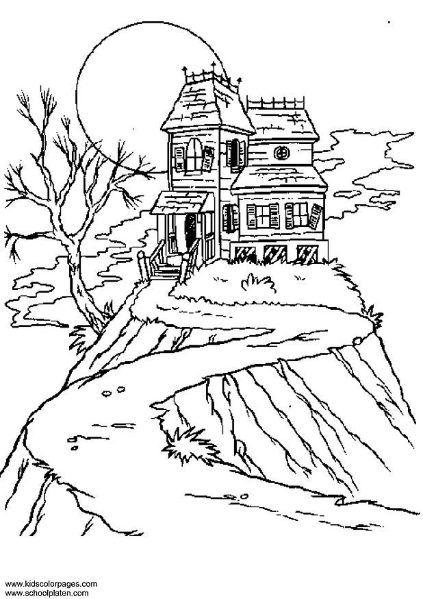 Horror Coloring Pages Coloring Home Horror Coloring Pages