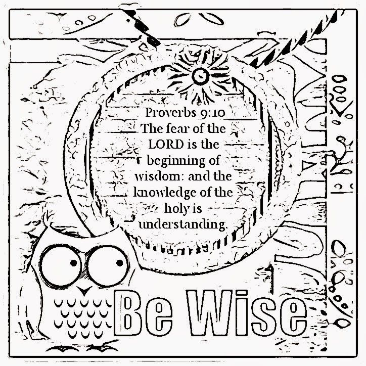 Bible Verse Coloring Page - Coloring Home