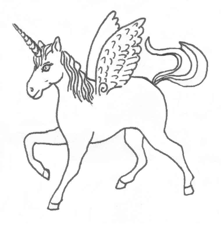unicorn outline coloring home