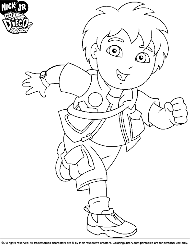 Go Diego G Colouring Pages (page 2)