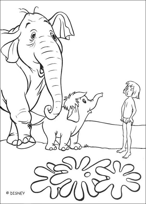 bagheera jungle book coloring pages