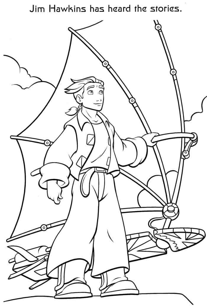 treasure planet coloring pages