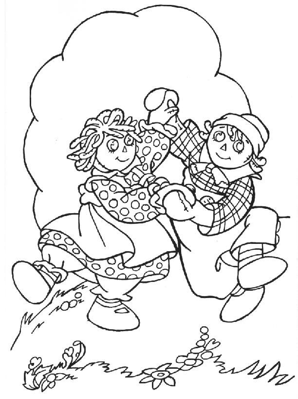 Raggedy Ann And Raggedy Andy - Coloring Home