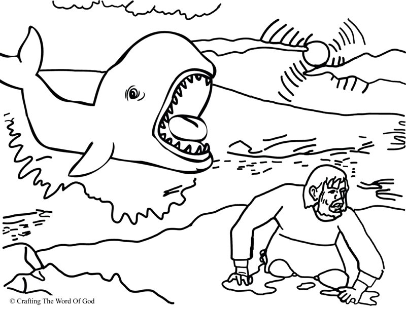 jonah and fish coloring pages - photo#16