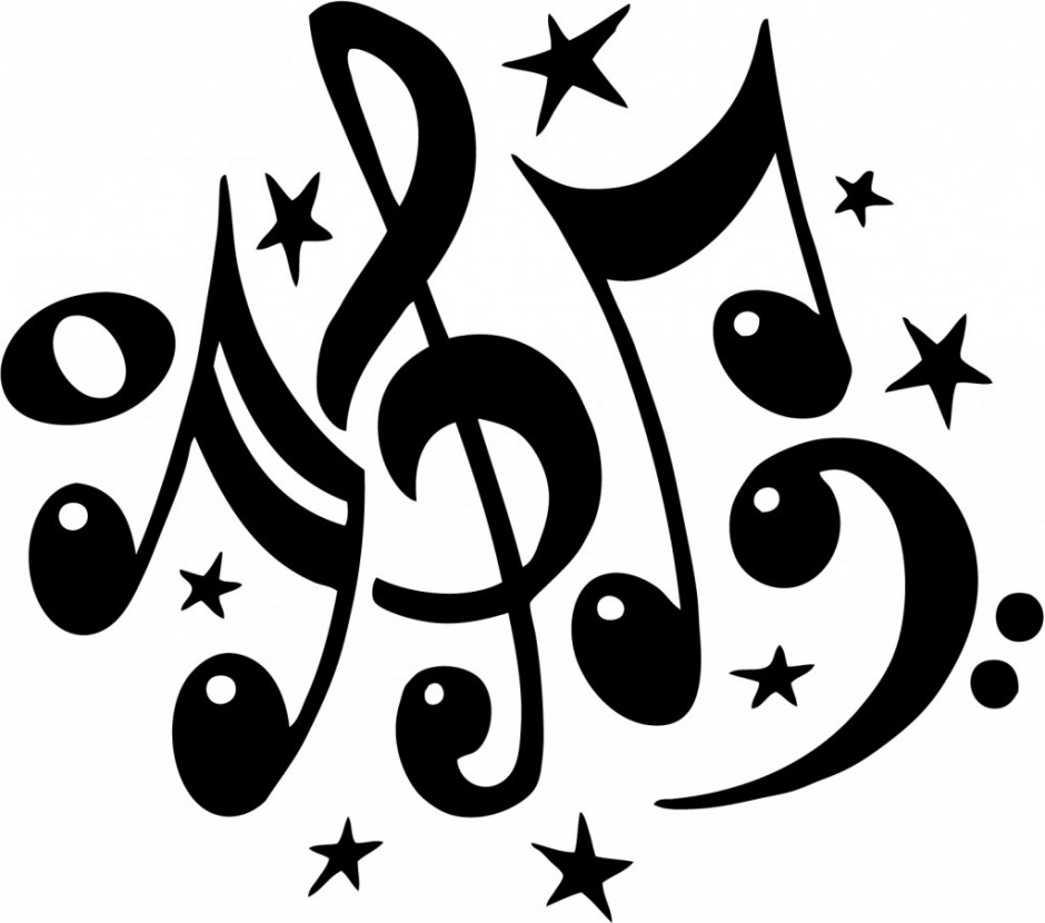 coloring pages music symbols - photo#27