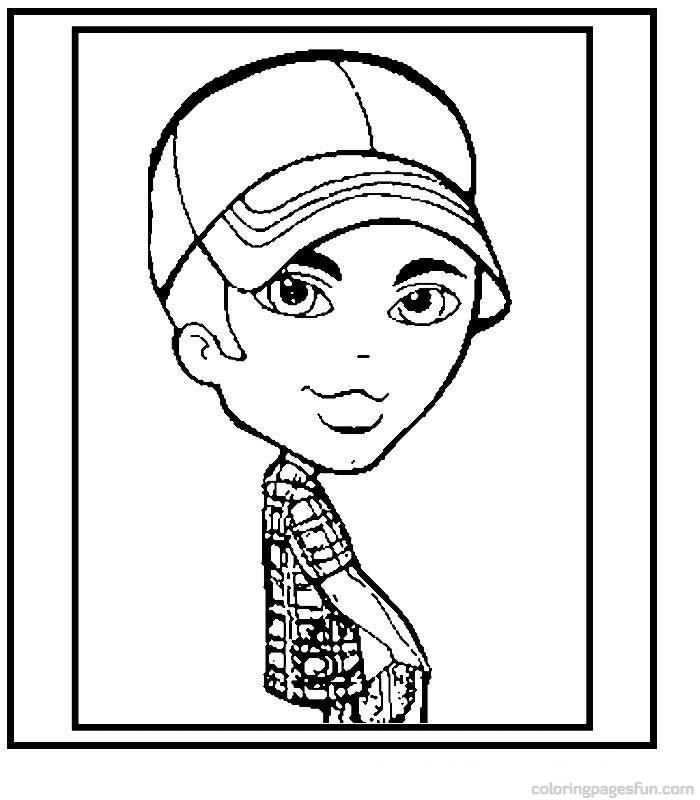 bratz boy coloring pages - photo #30
