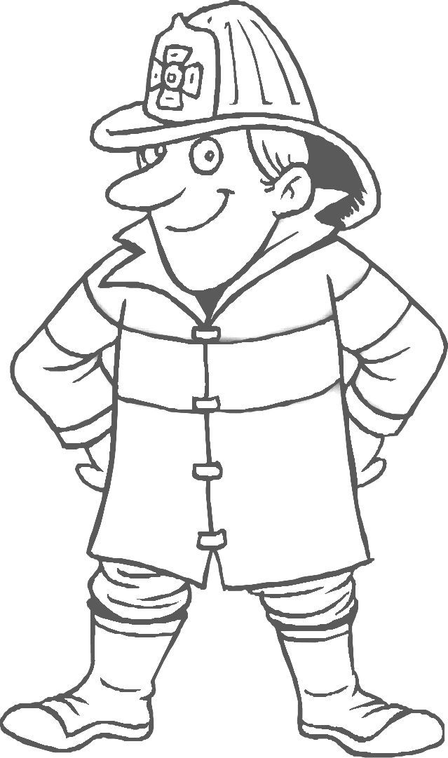 safety workers coloring pages - photo #13