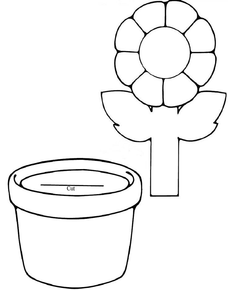 Flower Coloring Craft : Flower Template For Preschool Coloring Home