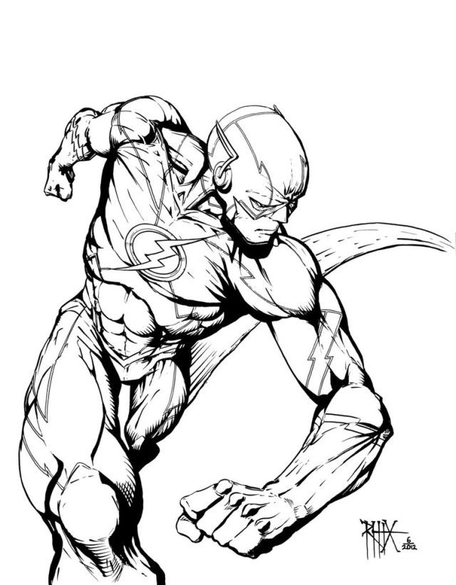 The Flash coloring pages | Coloring Pages