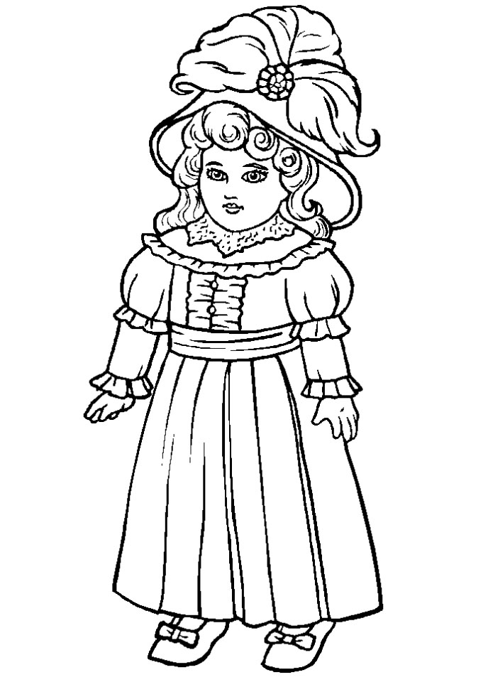 china dolls coloring pages - photo#1