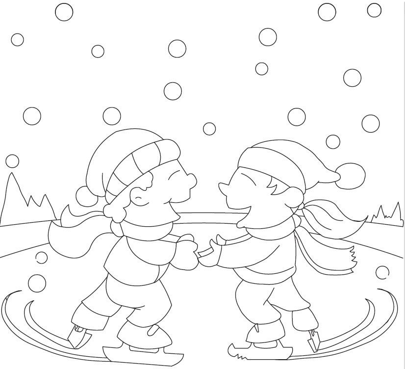 Dora Ice Skating Coloring Pages Ice Skating Coloring Pages