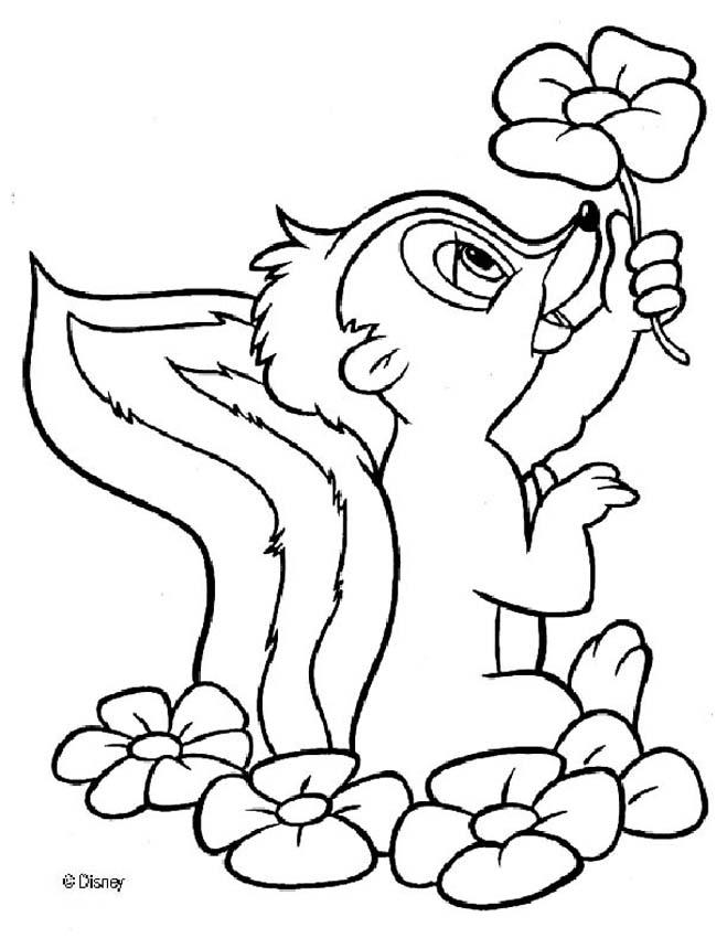 Bambi and Thumper, bambi color page, disney coloring pages, color ... | 850x659