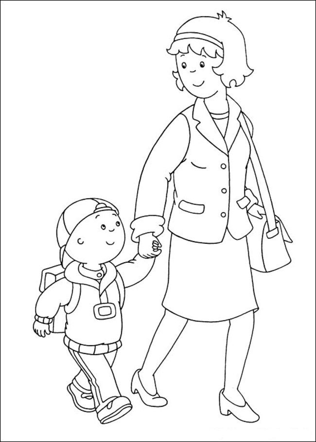 Caillou Coloring Pages Online - Picture 17 – Free Printable