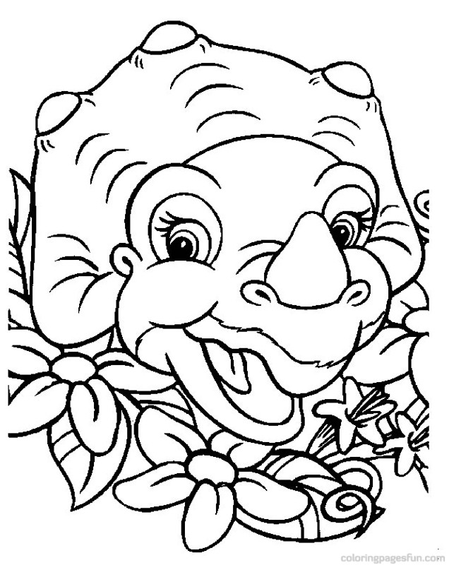 Dinosaurs from the land before time az coloring pages for The land before time coloring pages