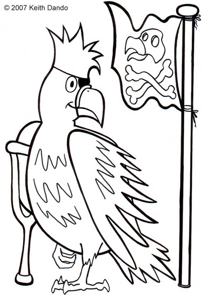 Pirate parrot coloring pages - photo#36