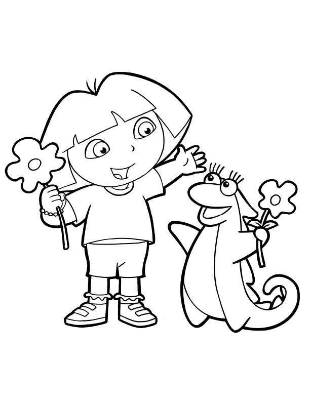 dora and diego color pages - dora the explorer coloring pages to print az coloring pages