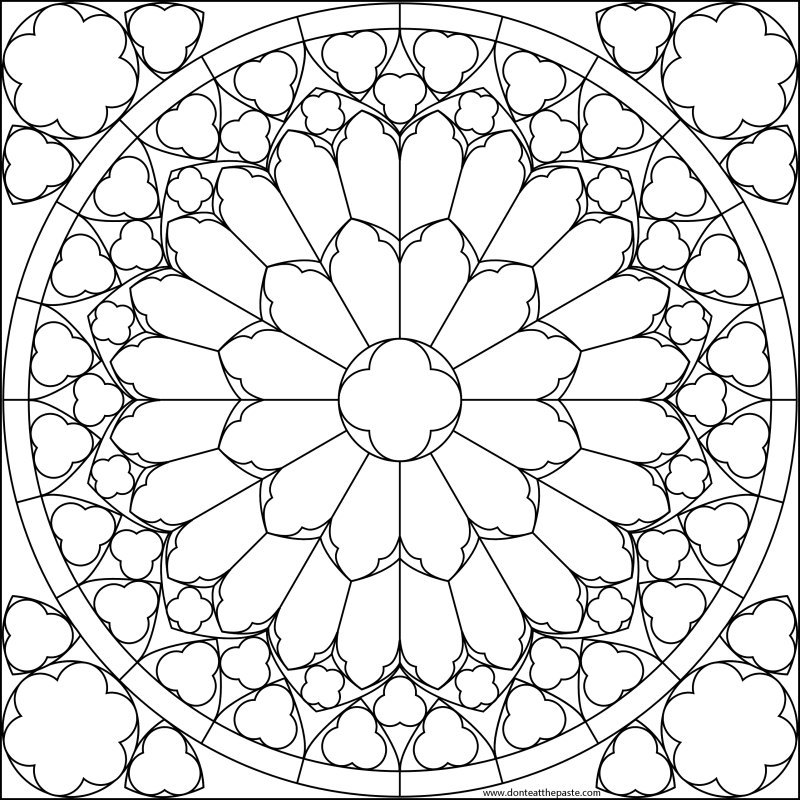 online stained glass coloring pages - photo#7