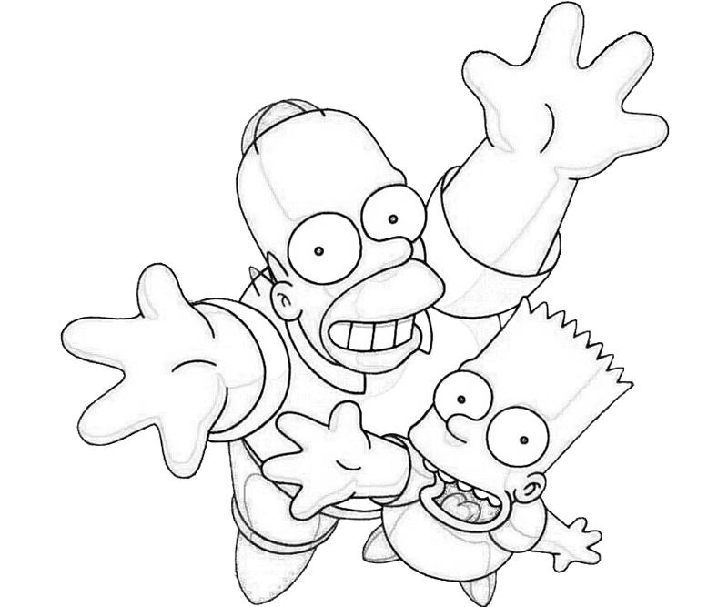 Simpsons Colouring Pages Online : Simpsons Coloring Page AZ Coloring Pages