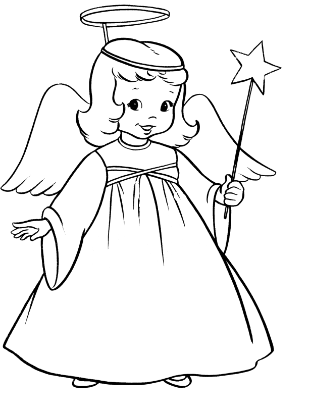 Printable Christmas Angels Coloring Pages  Christmas Coloring