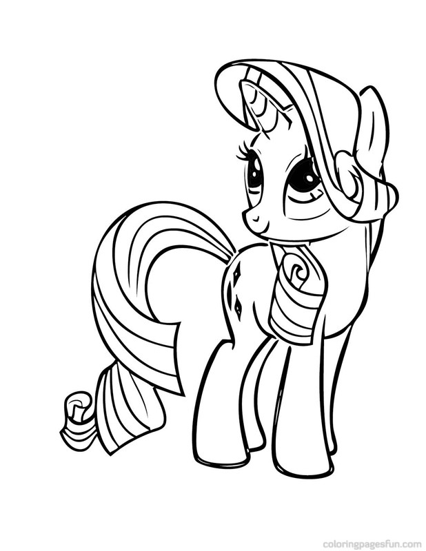 My Little Pony Coloring Pages Baby Rarity : My little pony color pages az coloring
