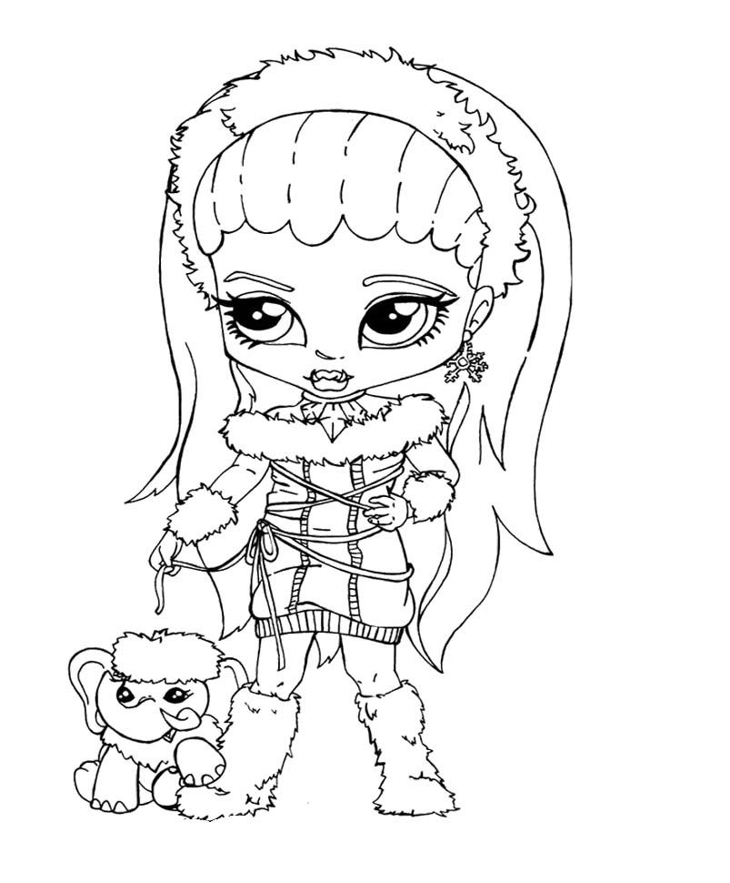 Monster High Bominable Abbey Little Coloring Pages