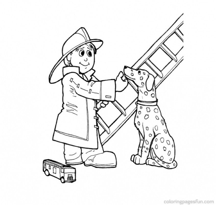 coloring pages firemen - photo#25