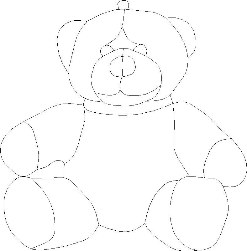 Outline Of A Teddy Bear Coloring