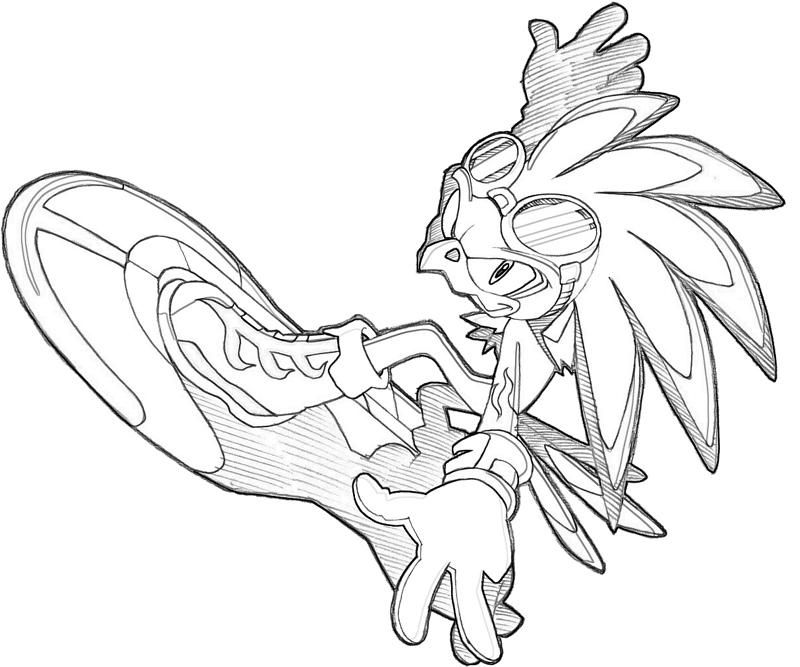 sonic riders coloring pages - photo#7