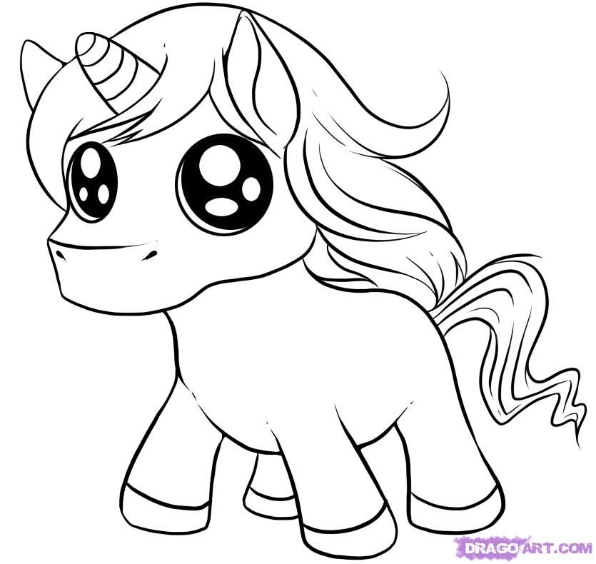 How to Draw a Chibi Unicorn, Step by Step, Chibis, Draw Chibi