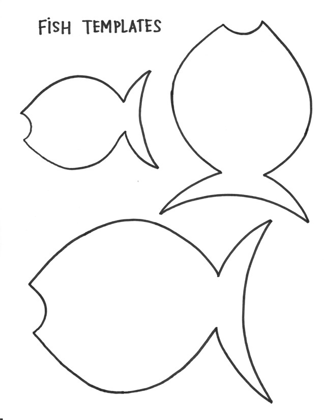 Fish template az coloring pages for Printable fish template